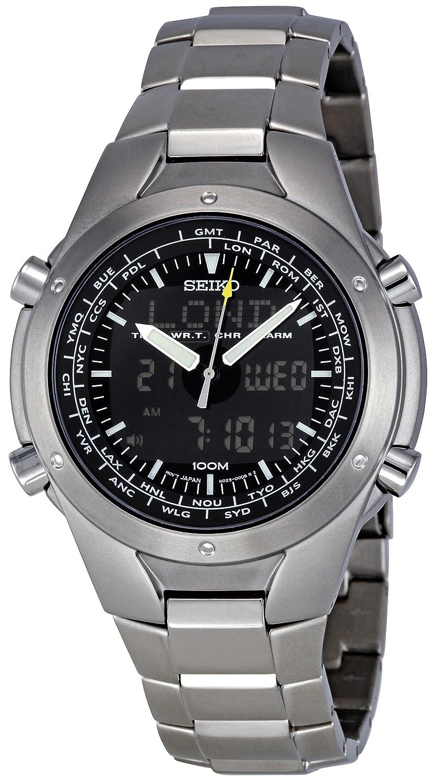 Amazon.com: Seiko Mens Quartz Titanium Casual Watch, Color:Silver-Toned (Model: SNJ009): Seiko: Watches