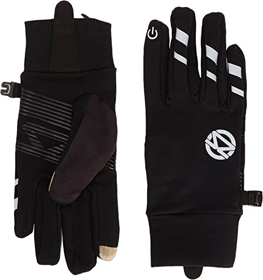J-Jinpei Running Sports Gloves Fishing Mens and Womens Touch Screen Gloves Size: S-XL Spring Or Fall Fitness Running Cycling Gloves Black Super Breathable and Comfortable Lightweight Gloves