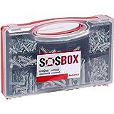 SOS di Box, spreizduebel S + Viti, tasselli universali Fu + Viti, tasselli e viti set, 360pezzi, 533629