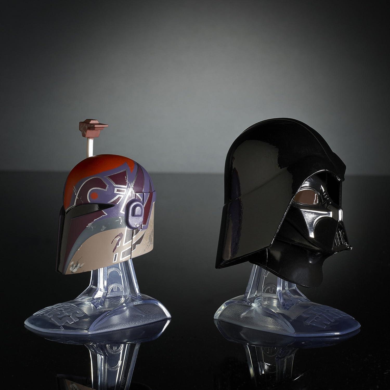 Star Wars Black Series Titanium Series Sabine Wren and Darth Vader Helmets