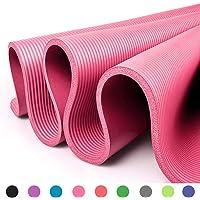 Glamexx24 Tapis de Fitness XXL Tapis de Yoga Tapis de Gymnastique Pilates Extra épais et Doux, idéal pour Le Pilates, la Gymnastique et Le Yoga