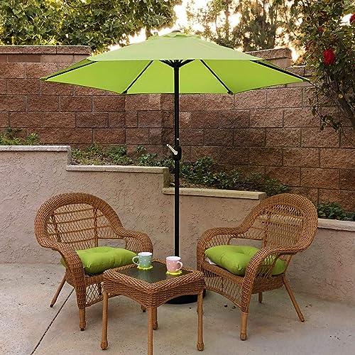 Overstock Maypex 7.5 Feet Crank Market Umbrella Lime Green
