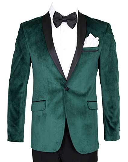 86dc4e98262964 Giangiulio - Emerald Green Velvet Dinner Jacket/Suit with Satin Lapel ( Jacket Only =