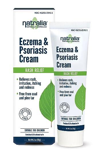 Natralia Eczema & Psoriasis Cream, 2 Ounce Tube - Flare Control Cream  Relieves Rash, Irritation, Itching