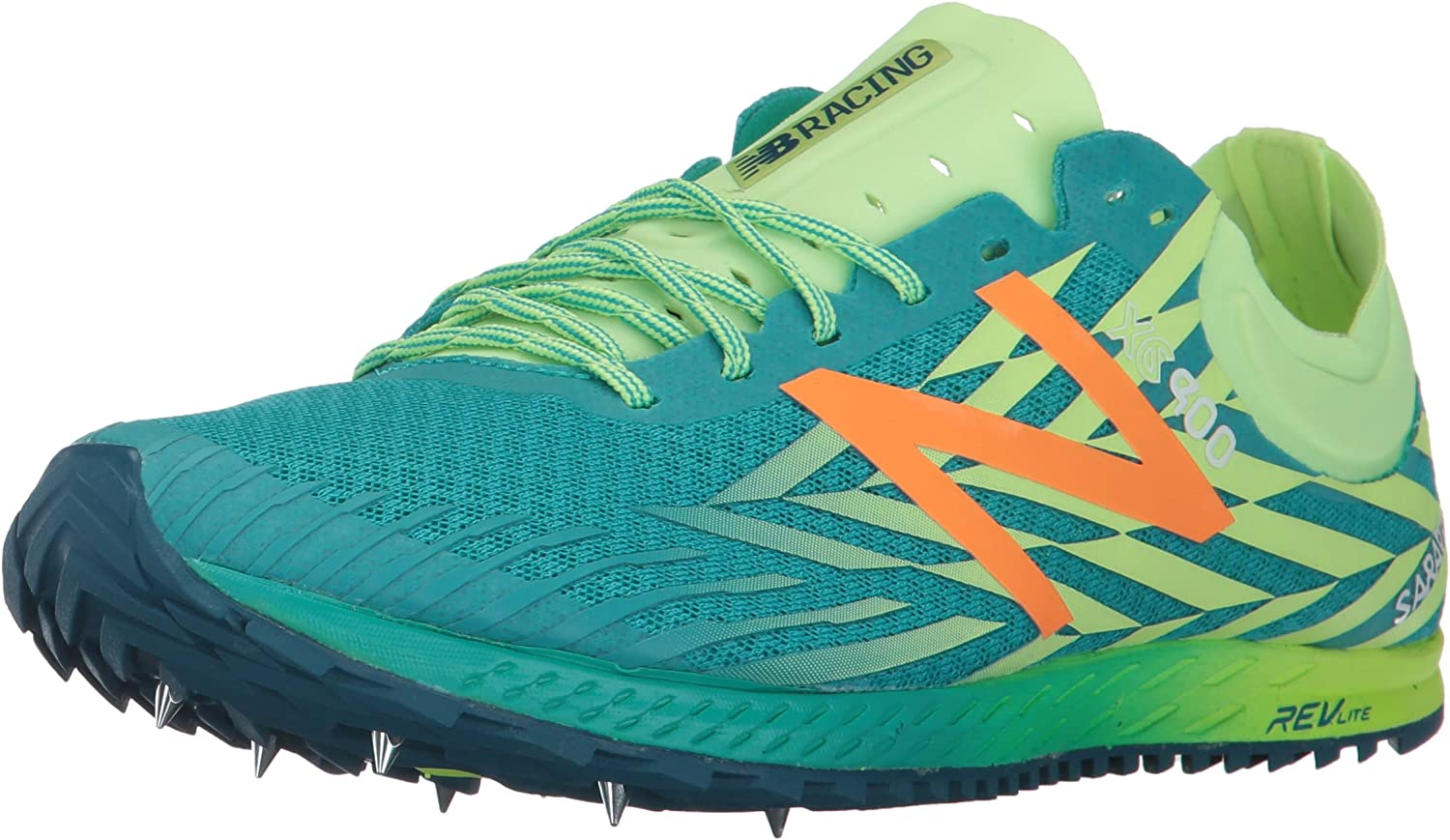New Balance Women s 900V Removable Spike Track-Shoes, Alpha Pink Vivid Tangerine, 8.5 B US