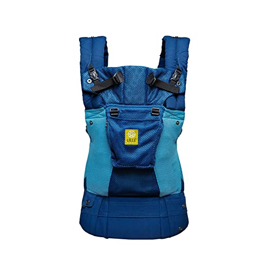 LÍLLÉbaby The COMPLETE Airflow SIX-Position 360° Ergonomic Baby & Child Carrier, Blue/Aqua - Cotton Baby Carrier, Ergonomic Multi-Position Carrying for Infants Babies Toddlers