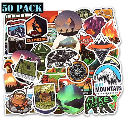 Ehope Wilderness Nature Stickers Outdoors Hiking Camping Travel Adventure Stickers Suitcase Stickers Vinyl Decals for Car Bumper Helmet Luggage Laptop Water Bottle (50 PCS): Arts, Crafts & Sewing