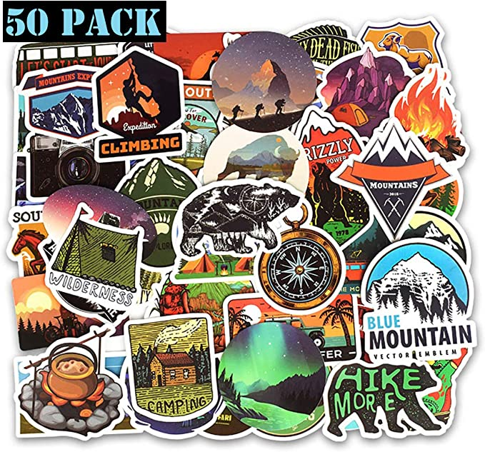 Travel Decal Expedition travel Car Sticker Laptop Mountans Snow Mountains