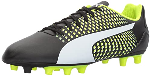 Adreno Iii Fg Soccer-Shoes para hombres, Gecko-Puma Black-Safety Yellow, 12 M US