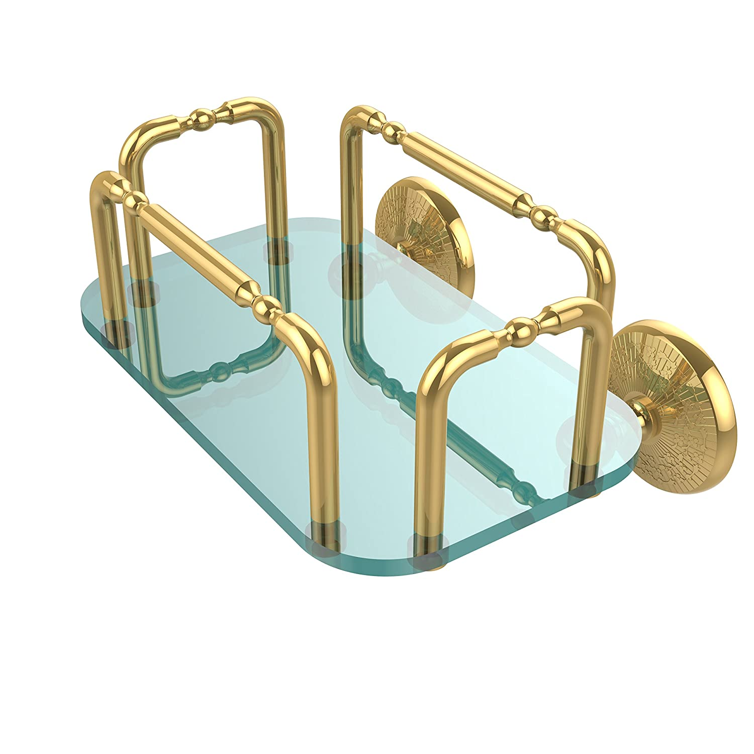 Allied Brass GT-2-MC-PB Monte Carlo Wall Mounted Guest Towel Holder, Polished Brass by Allied Precision Industries B00YE5SGSU 光沢真鍮 光沢真鍮
