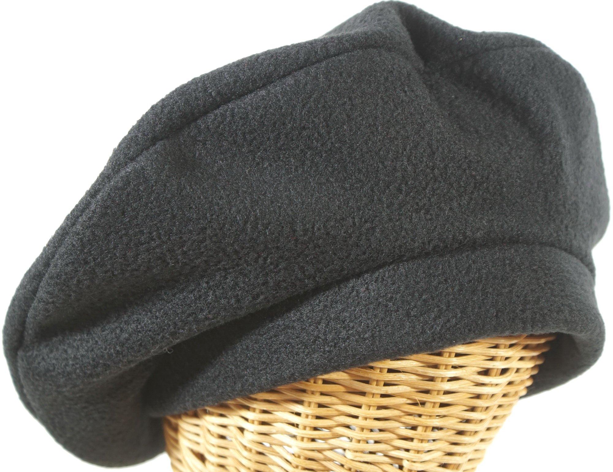 Hat Stuff Loft Fleece Beret In Black Made In Massachusetts