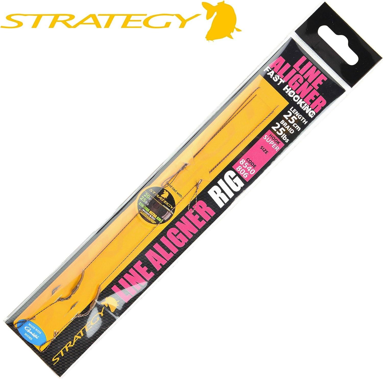Strategy Line Aligner Rig Fast Hooking 25cm 25lbs 2 Karpfenvorfach Karpfenmontage Karpfenrigs Vorf/ächer zum Karpfenangeln
