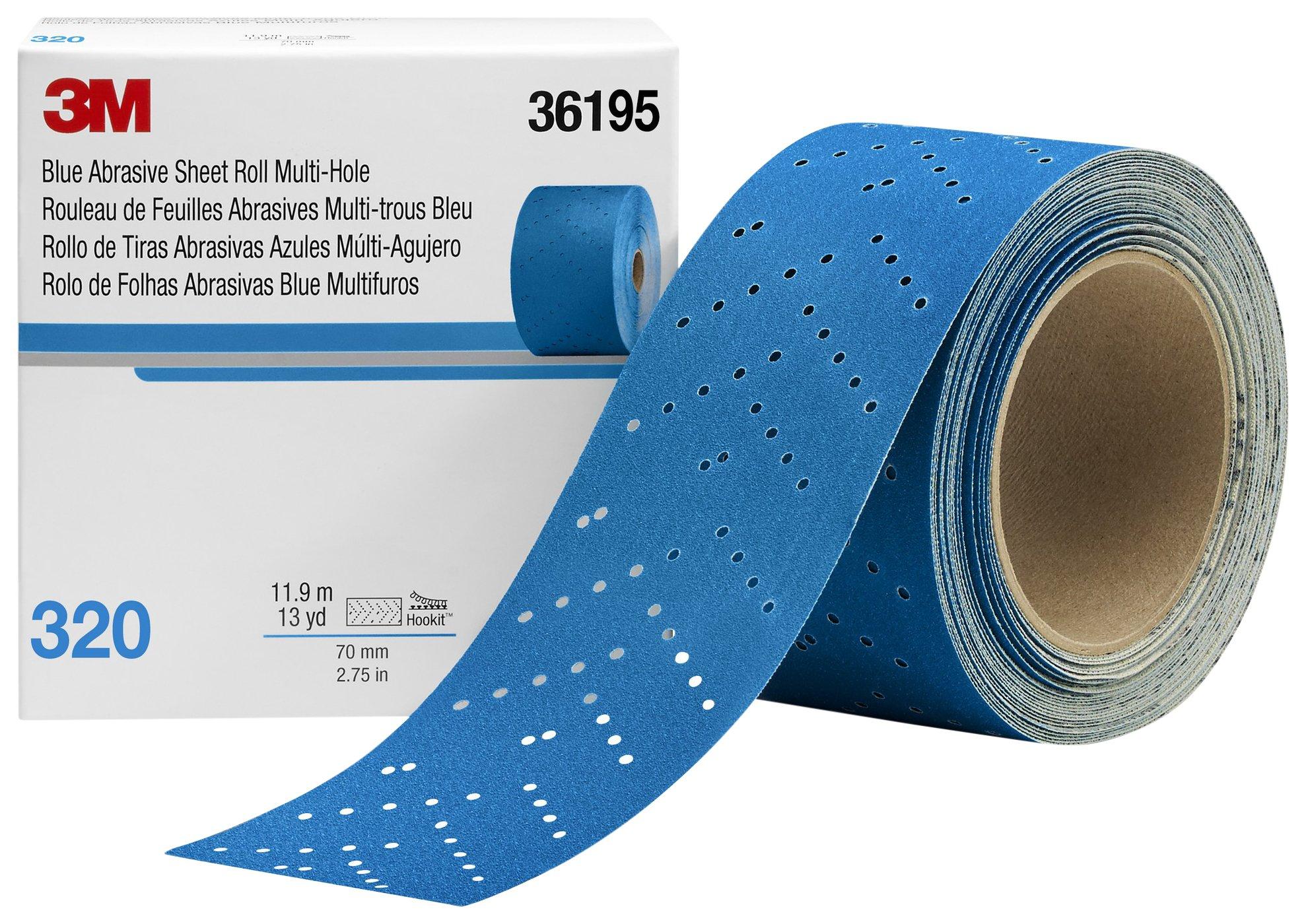 Hookit 36195 Blue Abrasive Sheet Roll