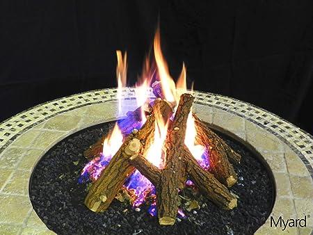 Amazon Com Myard Kiva 7 Country Oak Fire Gas Log Sticks Logs