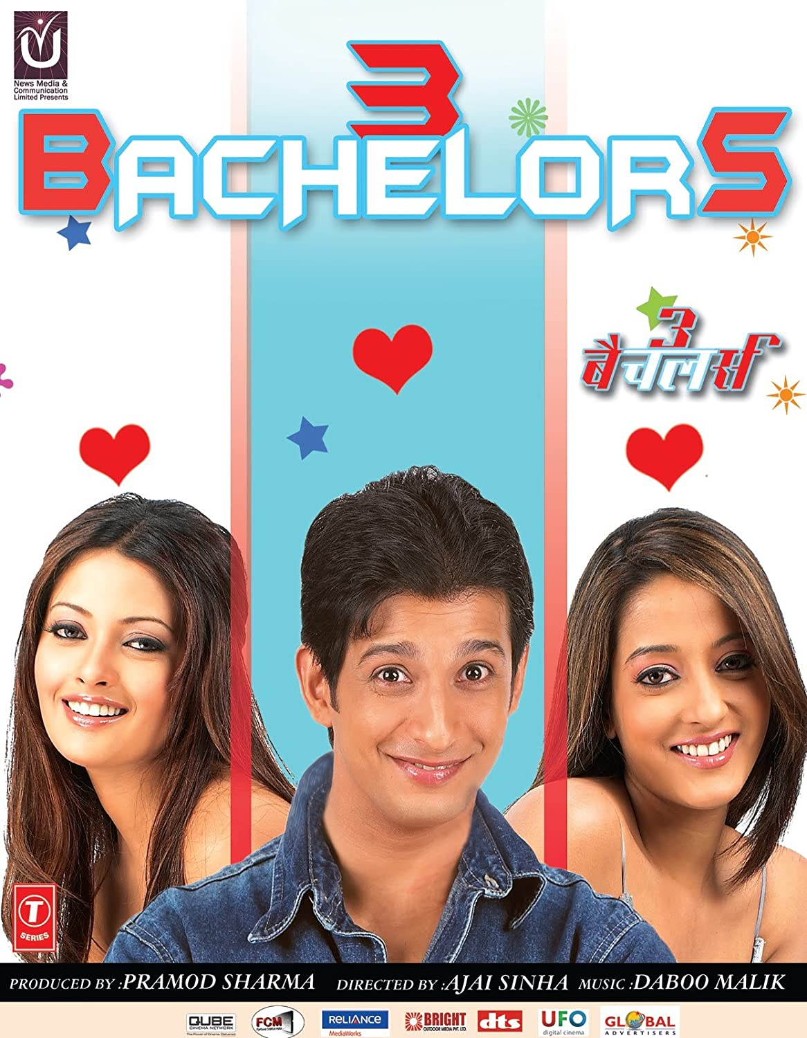 Free Download 3 Bachelors (2012) Bollywood Movie 720p HDRip 600MB Download On Mp4moviez Fliz Movies