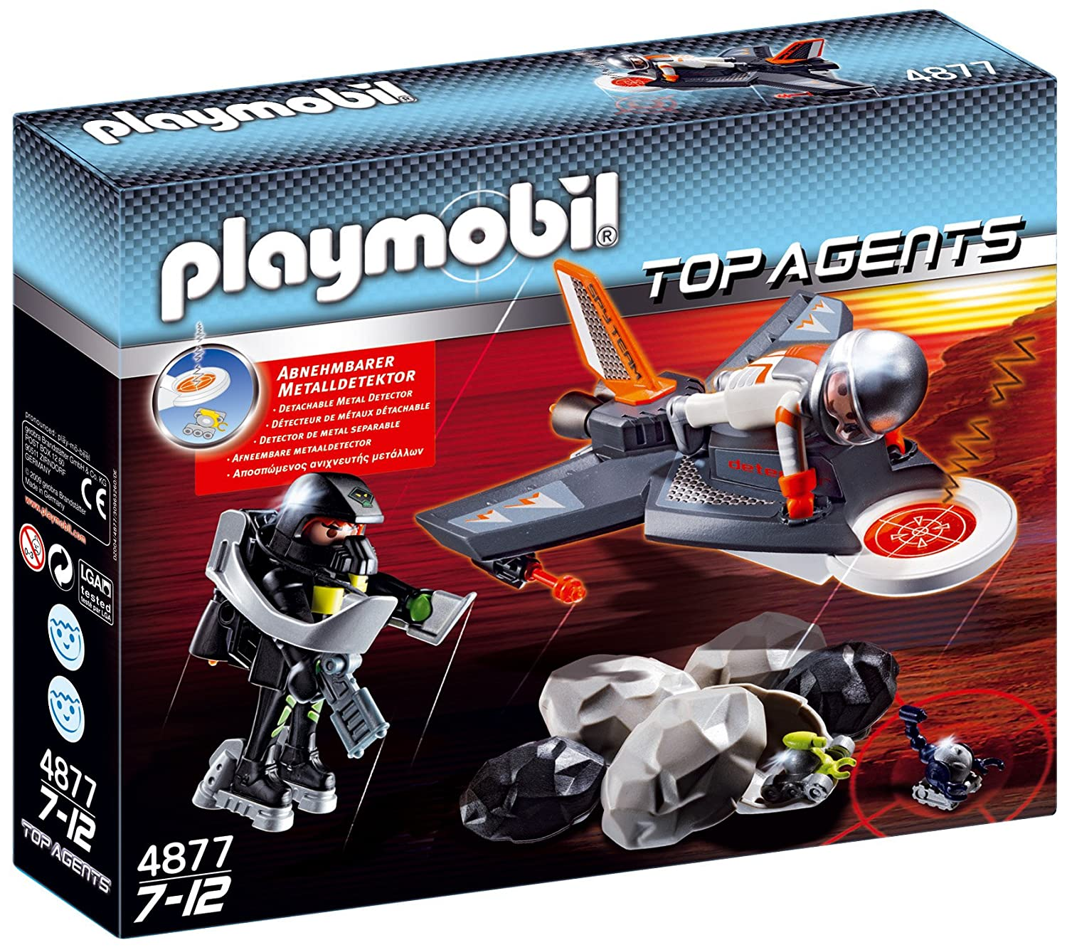Amazon.com: PLAYMOBIL® Secret Agent Detection Jet Construction Set: Toys & Games