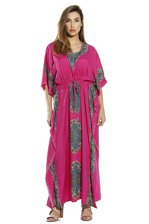 2adabd15de1 Riviera Sun Maxi Length Cinch Waist Caftan Kaftans for Women at Amazon  Women s Clothing store