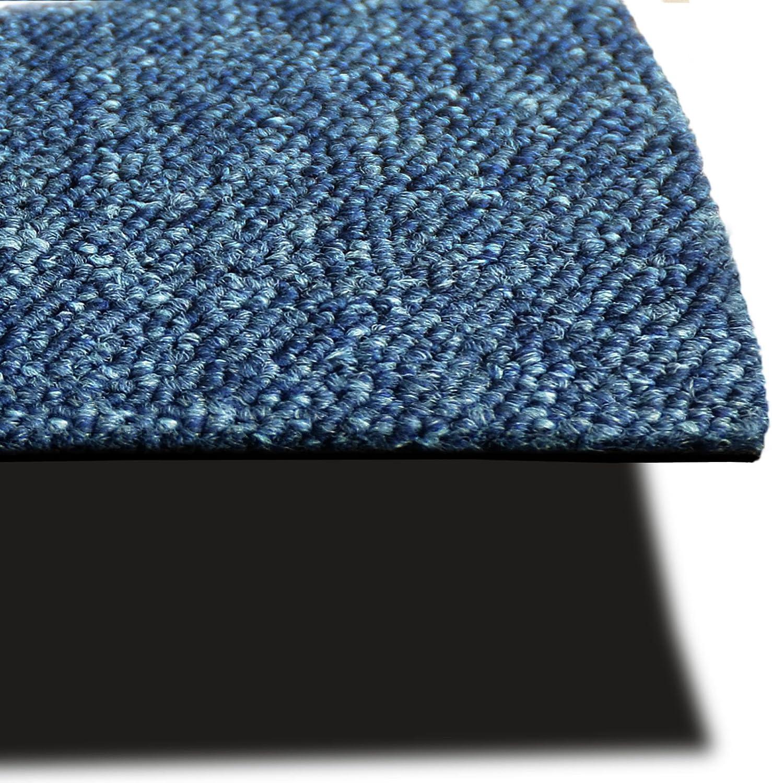 hochwertiger Bitumen R/ücken casa pura Teppichfliesen Vienna selbstliegend je 50x50 cm grau - 4 St/ück = 1qm strapazierf/ähiger Bodenbelag f/ür B/üro und Gewerbe