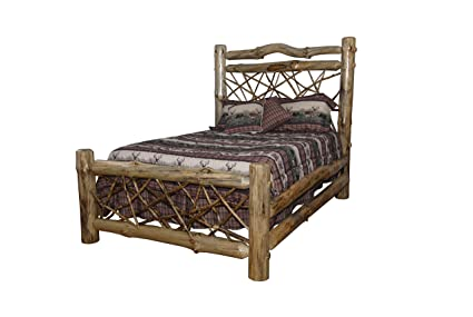 Rustic Pine Log Twig Style Bed   KING SIZE   Amish Made In USA (