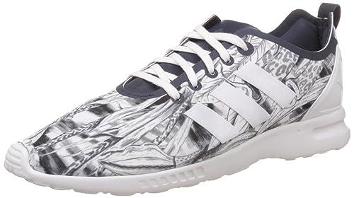 1b6cb4125 adidas Originals Women s Zx Flux Smooth W Dark Blue and White Running Shoes  ...