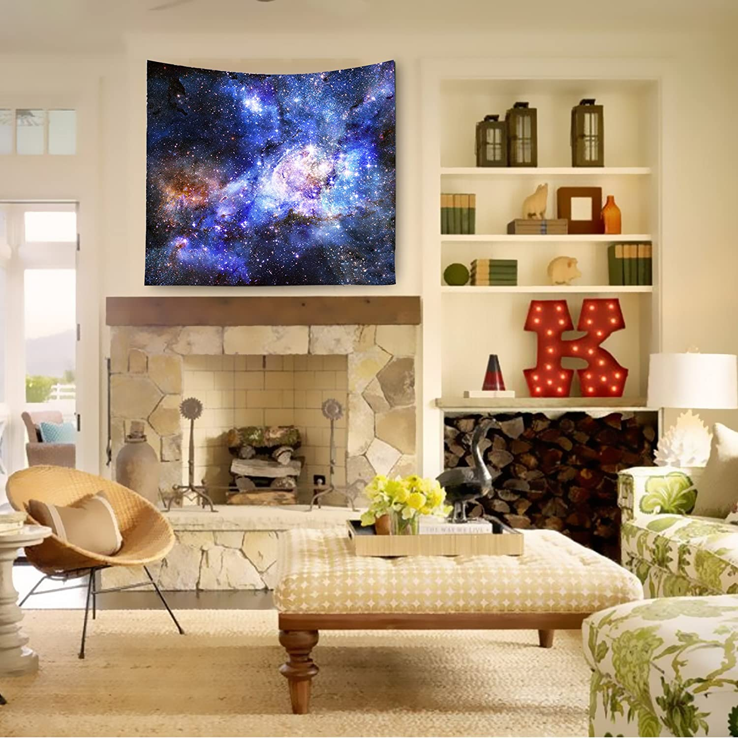 Amazon.com: Milky Way Wall Decor Tapestry, High Definition Celestial ...
