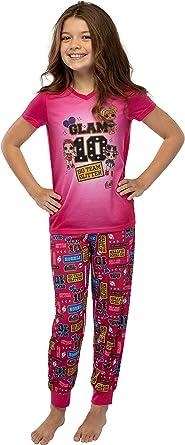 INTIMO LOL sorpresa! Girls Glam 10 Jogger Pantalones y camisa Ropa de dormir Conjunto de pijama de 2 piezas (XS, 4/5) Rosa fuerte: Amazon.es: Ropa y accesorios