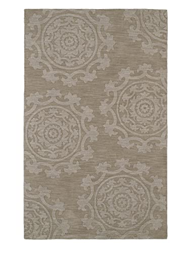 Kaleen Rugs Imprints Classic Hand-Tufted Area Rug, Light Brown, 3 6 x 5 6