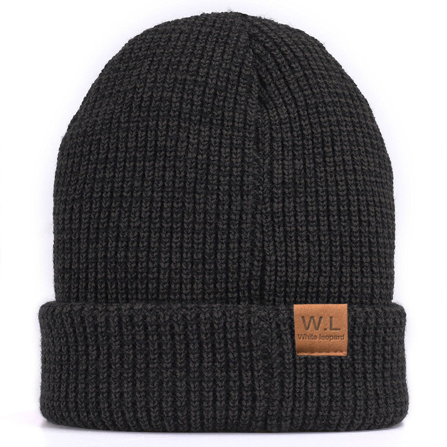 9146c9cd4cd Beanie Hat for Men and Women Lining CC Beanies Winter Warm Hats Knit  Slouchy Thick Skull Cap at Amazon Men s Clothing store