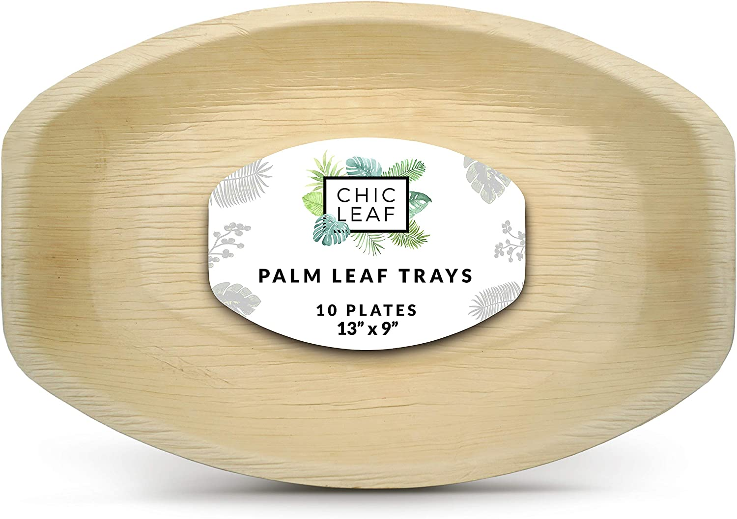 Chic Leaf Palm Leaf Platter Disposable Bamboo Plates 13