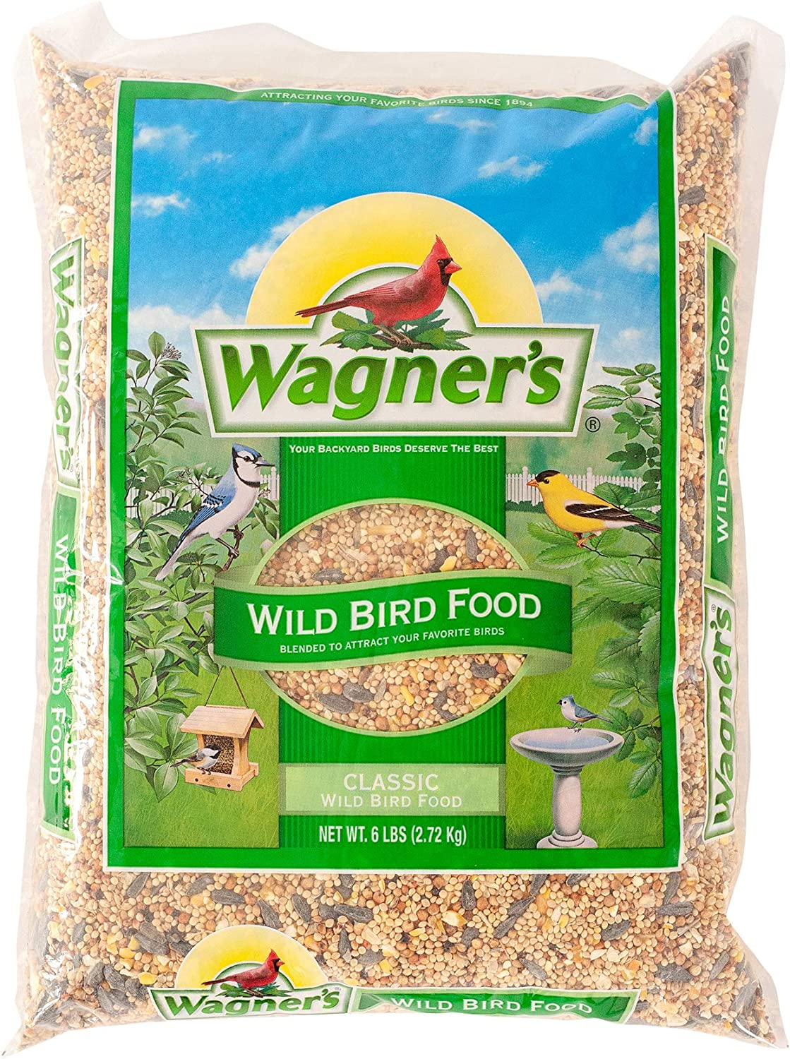 Wagner's 52003 Classic Blend Wild Bird Food, 6-Pound Bag