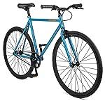 Retrospec Harper Single-Speed Fixed Gear Urban Commuter Bike, Atlantic Blue, 49 cm