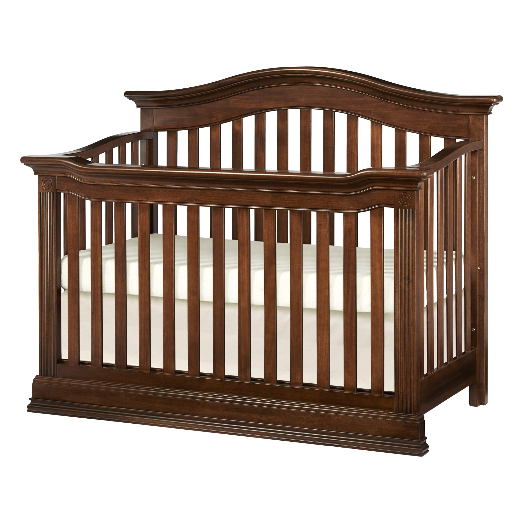 Baby Cache Natural Hardwood 4-in-1 Convertible Crib | Multigenerational Quality & Design | Kiln-dried & Hand-Crafted Construction | Montana Collection, Brown Sugar