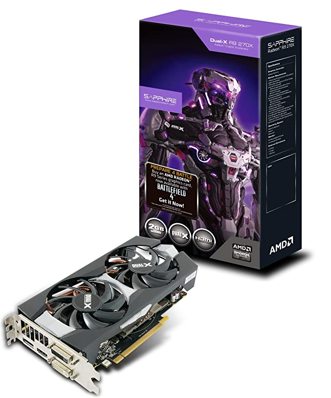 Amazon.com: Sapphire Radeon R9 270 X 2 GB GDDR5 DVI-I/DVI-D ...