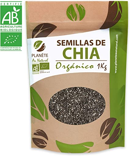 Semillas de Chia Orgánico - 1KG - Salvia hispanica: Amazon.es ...