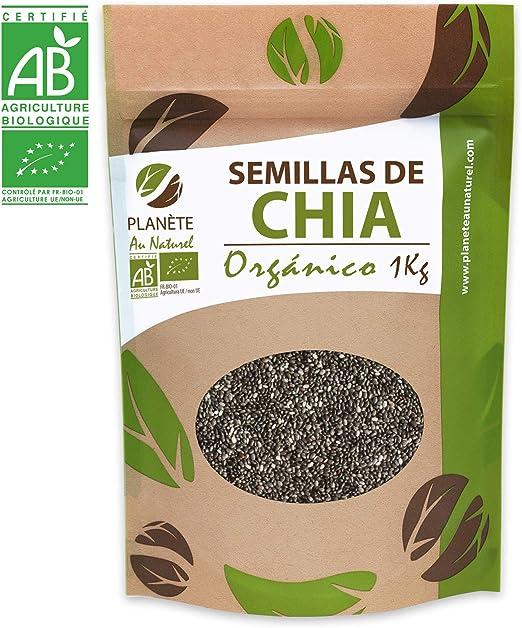 Semillas de Chia Orgánico - 1KG - Salvia hispanica: Amazon.es: Alimentación y bebidas