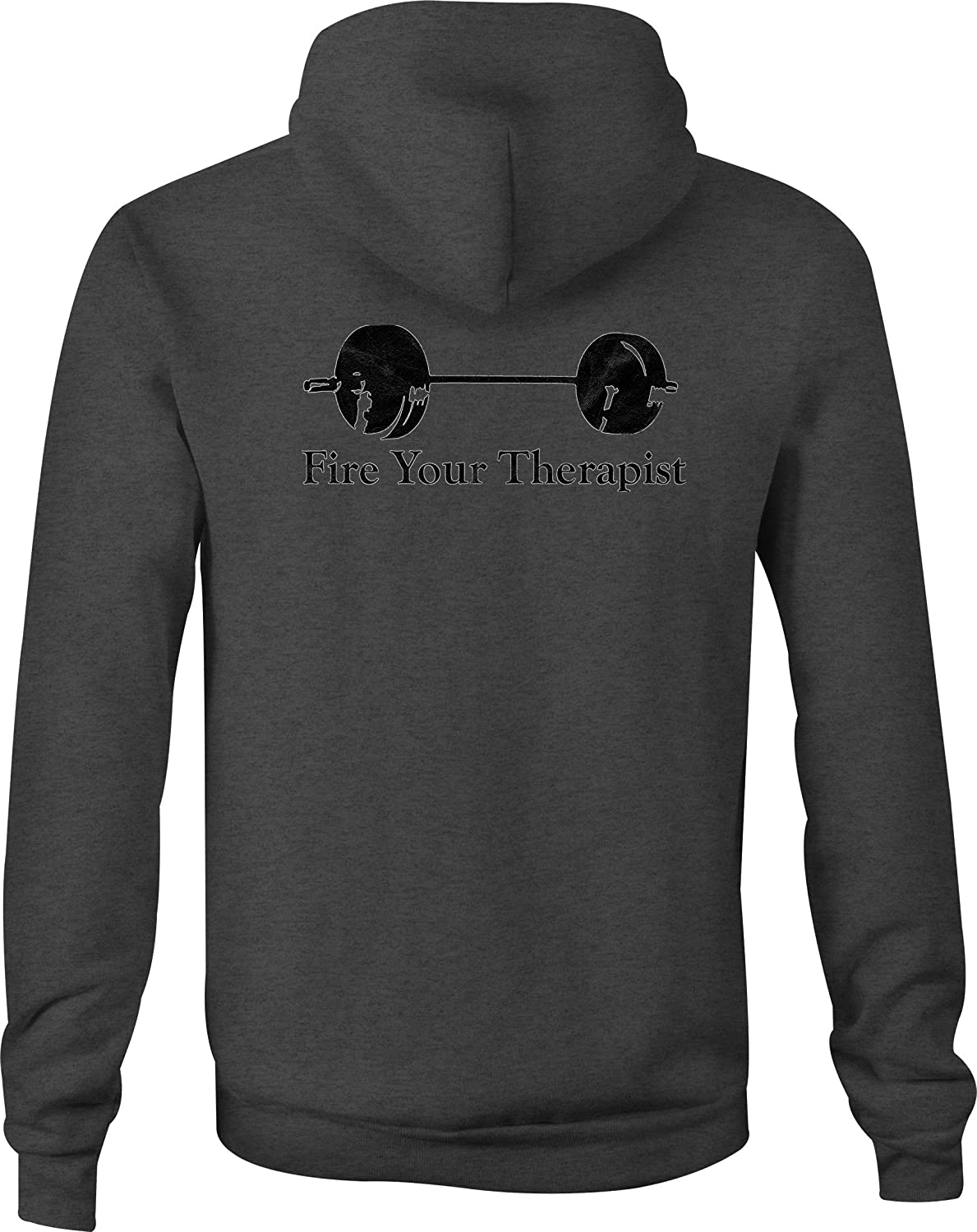 Workout Zip Up Hoodie Gym Therapy Lift Hooded Sweatshirt for Men