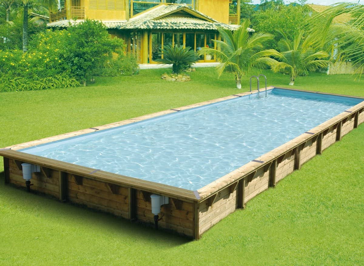 Kit-Piscina madera Nortland Ubbink LINEA 11,00 horas x 5 x 1,4 m ...