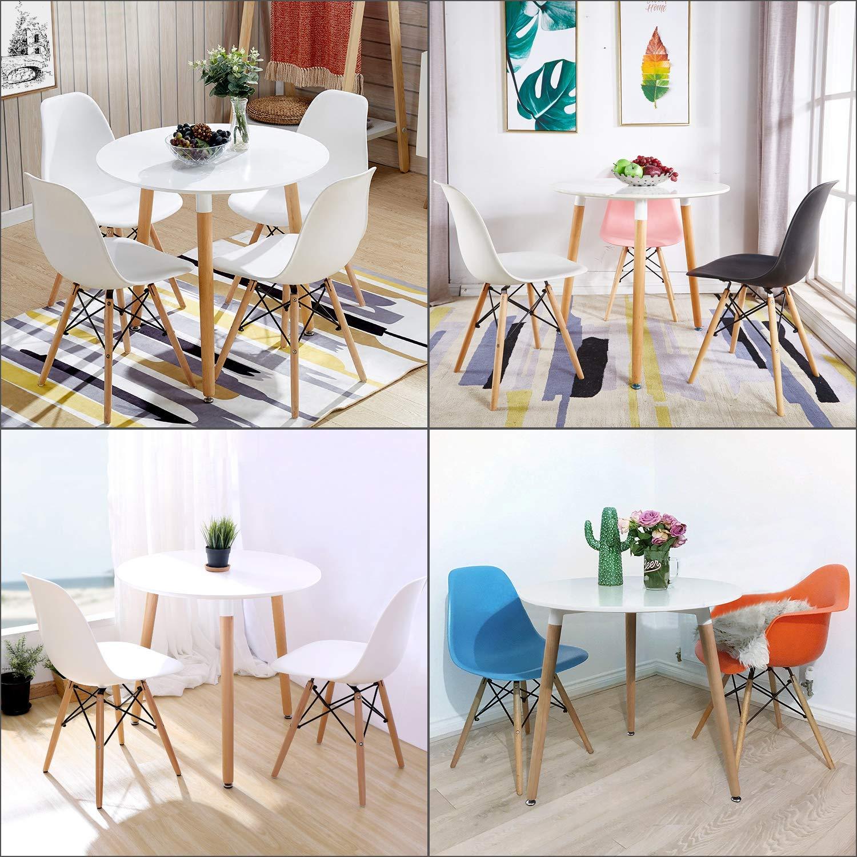 Esstisch Coavas Rund Küchentisch Modern Büro: Esstisch Edward Hochglanz Weiss Wohnzimmert80*80*72cm