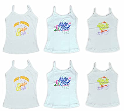 5eb934fe6 Lenity Girls Printed Cotton Camisole Slips Vests