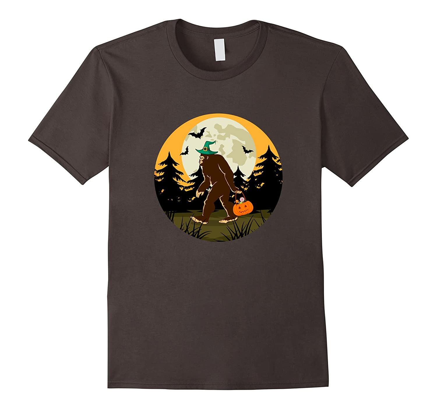 Bigfoot Halloween TShirt Funny Trick or Treat Costume Tee-FL