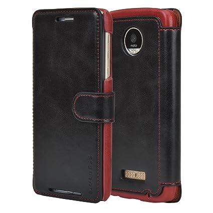 premium selection 8c460 e6777 Moto Z Play Case - PU Leather Flip Case Cover With Wallet for Lenovo /  Motorola Moto Z Play [5.5 Inch] 2016 Model,Black