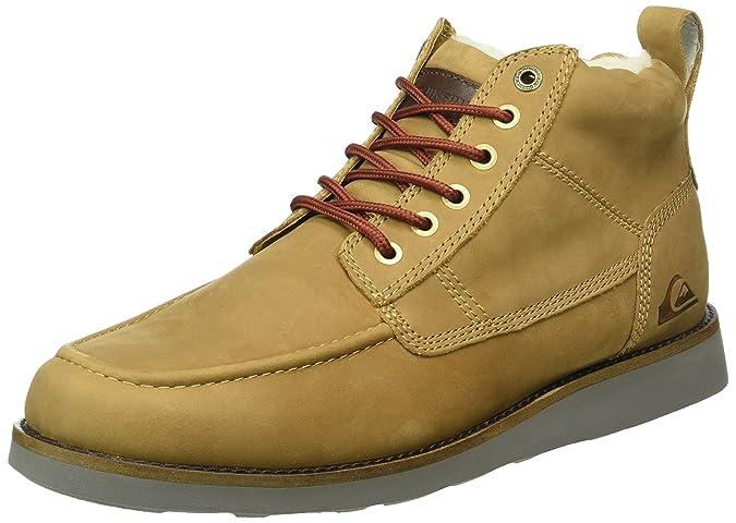 Quiksilver Sheffield - Zapatos de Cordones para Hombre, Marrón, 39