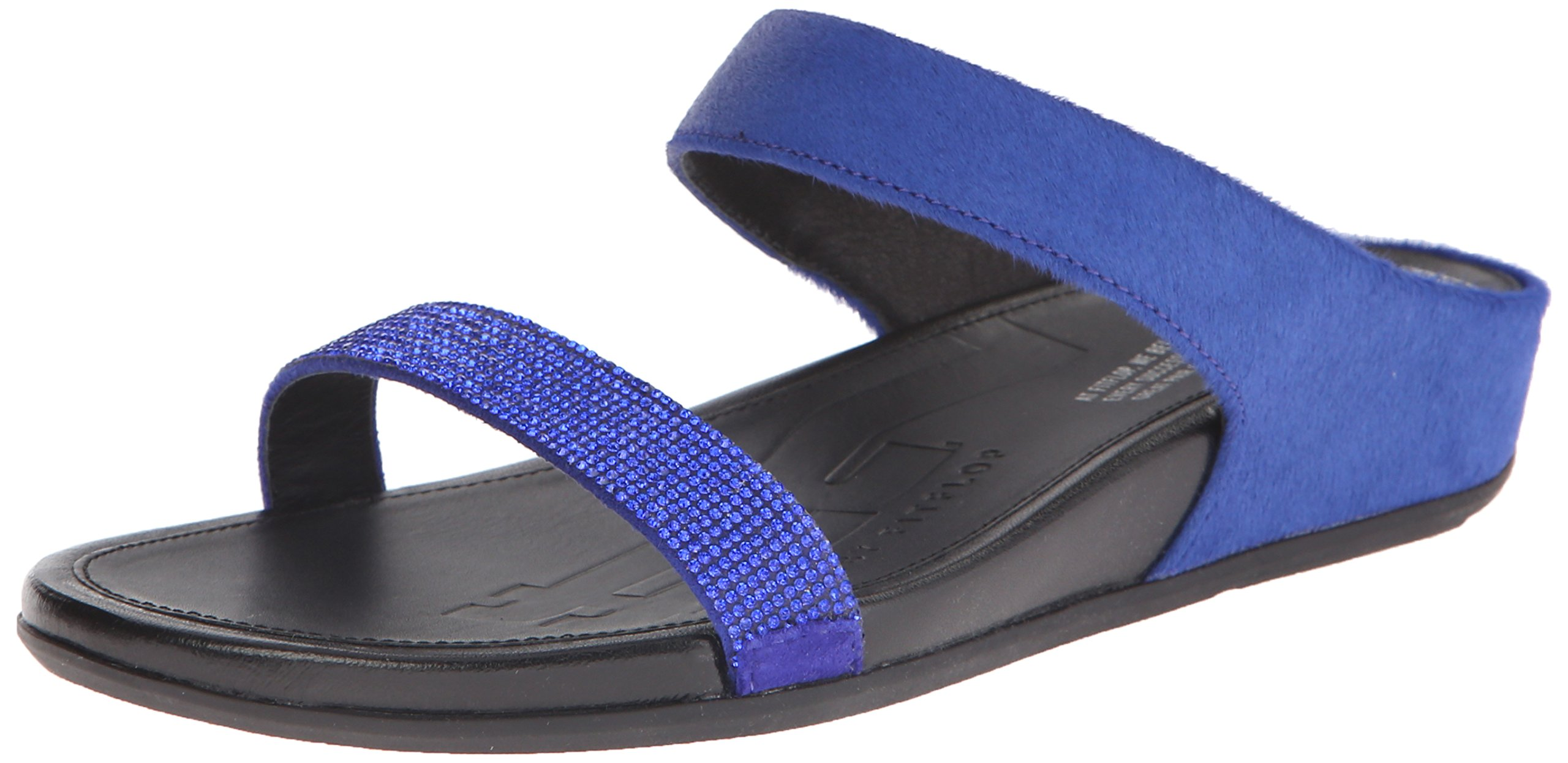 FitFlop Women's Banda Micro Crystal Slide Dress Sandal, Mazarin Blue, 9 M US
