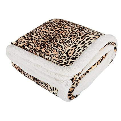 Catherine Lansfield Animal Print Throw 130x170cm Natural A Wide Selection Of Colours And Designs Home & Garden