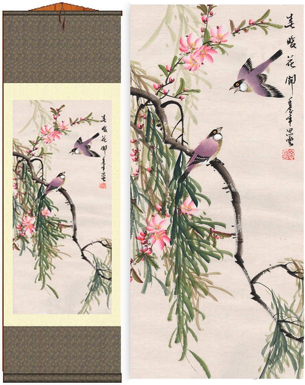 Grace Art Asian Wall Scroll, Birds