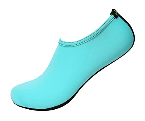 35245c90a7a3 Freely Barefoot Water Skin Shoes Aqua Socks for Beach Swim Surf Yoga  Exercise Mint 2.