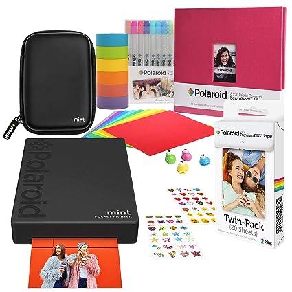 Polaroid Mint Tragbarer Fotodrucker Geschenkset Schwarz