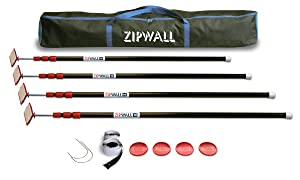 ZipWall ZipPole 10' 4-Pack Spring-Loaded Poles for Dust Barriers, ZP4