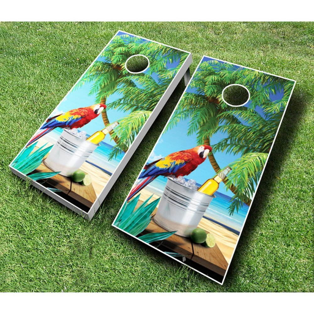 Parrot Cornhole Set withバッグ B00JHQO3FG Red / Royal Blue Bags 1