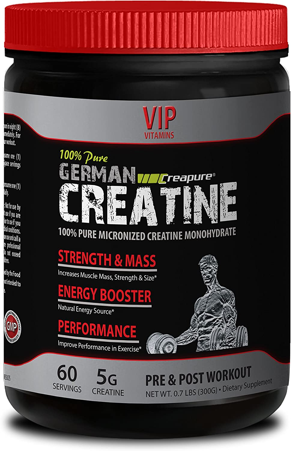 Amazon Com Bodybuilding Supplements For Men Maximum Strength German Creatine Creapure Creatine Workout Powder 1 Can 300g 60 Servings Health Personal Care